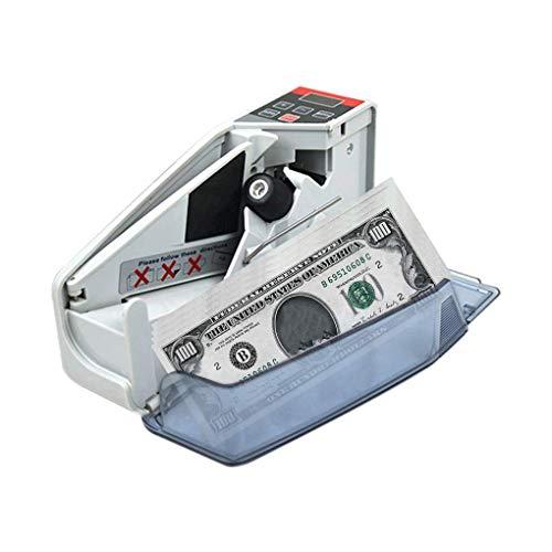 ASJJ Contabanconote con Conta Banconote Money Counter Pratico Portatile Soldi contatore Mini Bill Cash Conta Macchina Multi-valuta Handy Contabanconote