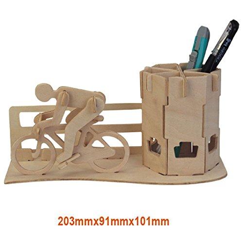 Preisvergleich Produktbild Gazechimp Kreative DIY 3D-Holz-Puzzle / Baby Pädagogisches Spielzeug / verbessert Hand-Augen Koordination von Kindern / Idea auch als Geschenk - Rennrad Federbehälter