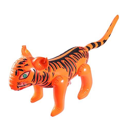 STOBOK Neuheit Tiger Aufblasbare Spielzeug Spielzeug Luftgefüllte Blow Up Spielzeug Ballon Party Dekoration für Kinder Kinder (Blow Up Tiere)
