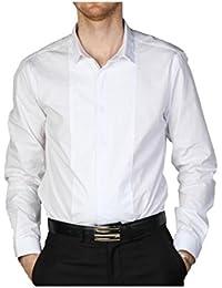 Chemise homme cintrée blanche double col