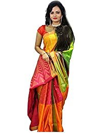 OSLC Women's Printed Saree With Blouse Piece Material