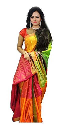 OSLC bhagal puri with priented blouse Women\'s Clothing Saree Collection in Multi-Coloured Georgette Material For Women Party Wear,Wedding,Casual sarees Offer Latest Design Wear Sarees With Blouse Pie