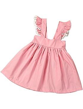 Igemy Kinder Baby Mädchen Sommer Baumwolle Gurtzeug Kleid ärmellosen Prinzessin Kleid
