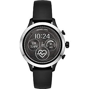 Michael Kors Damen Digital Smart Watch Armbanduhr mit Silikon Armband MKT5049