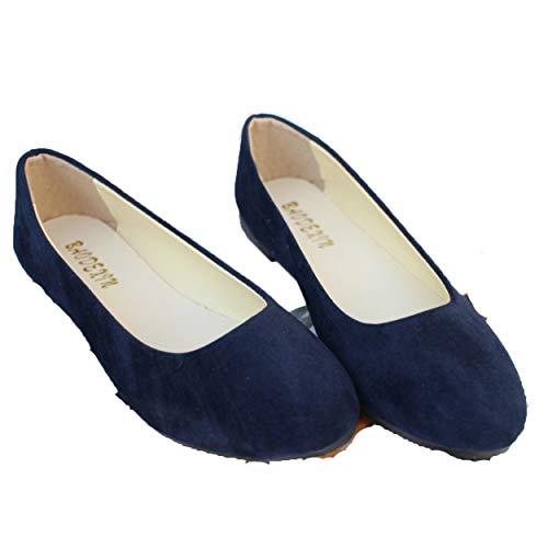 Frauen Wohnungen Slip On Casual Schuhe FrüHling Candy Farbe Faux Wildleder Flache Spitze Zehe Damen Ballerinas MüßIggäNger Schuhe
