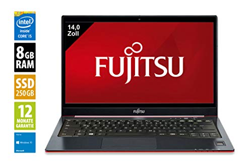 Fujitsu LifeBook U772 | Notebook | Laptop | 14,0 Zoll (1366x768) | Intel Core i5-3437U @ 1,9 GHz | 8GB DDR3 RAM | 250GB SSD | Webcam | Windows 10 Home (Zertifiziert und Generalüberholt)
