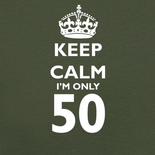 Keep calm I'm only 50 - Herren T-Shirt - 13 Farben Olivgrün
