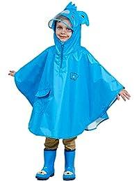 Bwiv Regenponcho Kinder Unisex Wasserdicht Atmungsaktiv Regenmantel Leicht Hautfreundlich Regenbekleidung Regen Overall Regencape Regenjacke Slicker mit Tasche für Mädchen Jungen