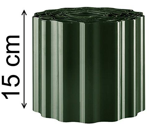9m Rasenkante 15 cm hoch Beeteinfassung Beetumrandung Rasenbegrenzung Raseneinfassung grün