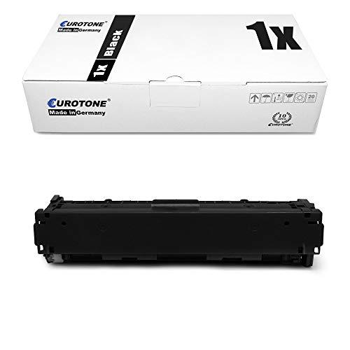 1x Eurotone Remanufactured Toner für HP Color Laserjet CP 1210 1213 1214 1215 1216 1217 1513 1514 1515 1516 1517 1518 1519 NI N ersetzt CB540A 125A