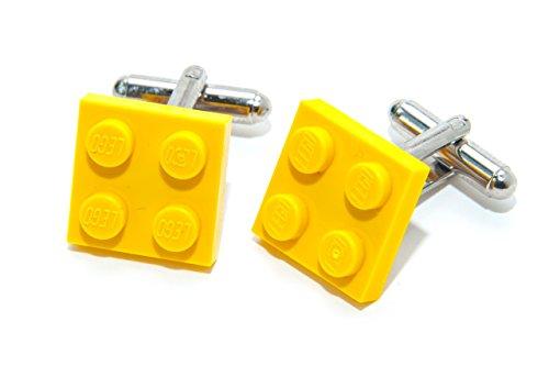 Amarillo auténtica placa Lego Gemelos-Funky Retro