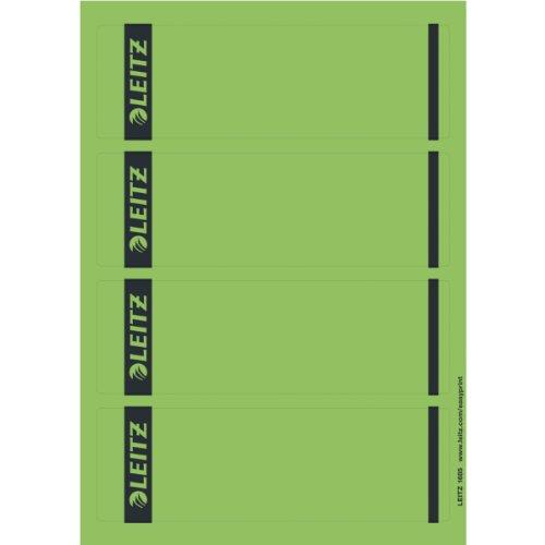 Preisvergleich Produktbild Leitz 16852055 Rückenschild selbstklebend PC, Papier, kurz, breit, 100 Stück, grün