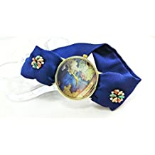 Orologio da polso mappamondo donna Cinturino fatto a mano di colore personalizzato Bracciale ricamato - Artigianale Di Vetro Ornamento