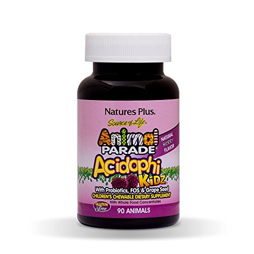 Source of Life® Animal Parade® AcidophiKidz® 90 Lutschtabletten (Natures Plus Chewable Vitamin E)