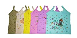 Baby Basic Outfits Baby Inner Wear Girl, Multi Color, Pack of 6