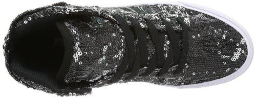 Supra WOMENS SKYTOP, Sneaker donna Nero (Schwarz (WHITE/WHITE - WHITE WWW))