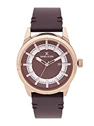 Daniel Klein Silver/Brown Analog watch for Men DK11476-2