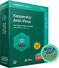 Kaspersky Antivirus Latest Version - 3 Users, 1 Year (3 Individual keys, 1 CD) (Special Edition)