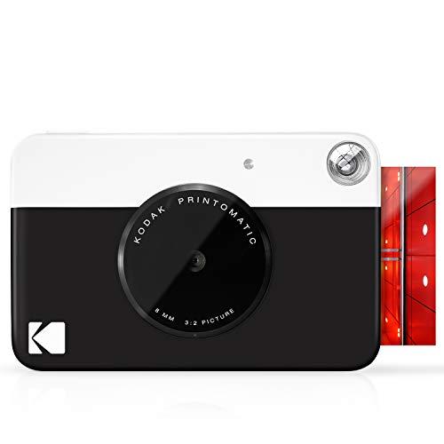 Oferta de Kodak Printomatic - Cámara de impresión instantánea, imprime en Papel Zink 5 x 7.6 cm con respaldo adhesivo, negro