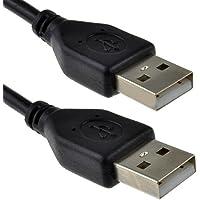 USB 2,0 A Vers A Mâle Vers Mâle Haute Vitesse Noir câble 0,5 m 50 cm