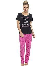 110589a093 Damas Tom Franks estampado de cuadros Invierno Largo Pijama Pijama Pijama -  Gris - cometas