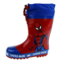 Marvel Spiderman Tie Top Wellington Boots Red