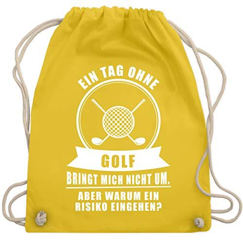 Golf bringt mich nicht um - Unisize - Gelb - WM110 - Turnbeutel & Gym Bag ()