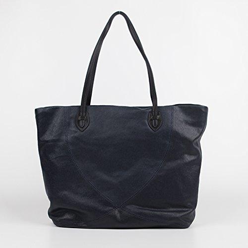 Mesdames sac d'épaule grand sac toile vrac léger Dark Blue