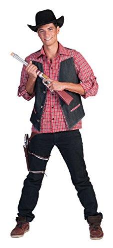 ,Karneval Klamotten' Kostüm Weste Jeans Western Herr Karneval Wilder Westen Herrenkostüm Größe 56/58
