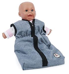 Bayer Chic 200079250muñecas de Saco de Dormir para bebé muñecas, Jeans Azul