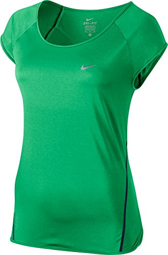 Nike Damen City Tanktop Verde / Negro / Plateado