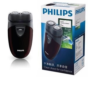 Philips PQ206 Men Electric Shaver Battery Operated with Floating Heads, Lightweight