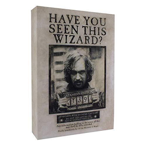 Paladone - Harry Potter Lampada LuminArt Sirius Black Poster Azkaban Ufficiale Warner Bros