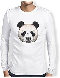 TEXLAB - Polygon Panda - Herren Langarm T-Shirt
