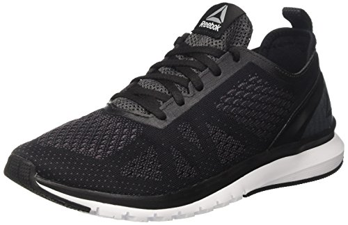 Reebok Herren Print Smooth Clip Ultraknit Laufschuhe, Schwarz (Black/Ash Grey/Coal/White/Pewter), 42.5 EU