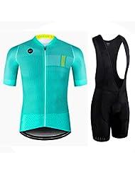 Hombres Ciclismo Jerseys Sets Camisa rápida Dry Wicking compresión Transpirable Ciclismo Ropa Trajes Sportswear Bib Corto Off Road Bike Moto Racing Ropa para el Verano