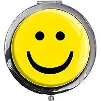 """metALUm - Extragroße Pillendose in runder Form""""Smiley"""" preisvergleich bei billige-tabletten.eu"""