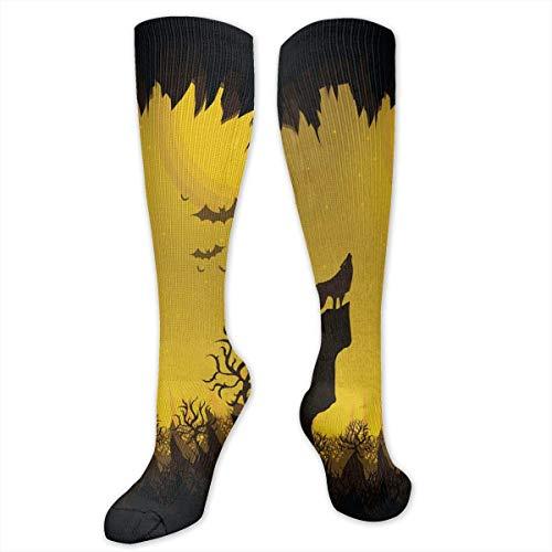Stretch Socks Happy Halloween Soccer Socks Over The Calf Hot for Running,Athletic,Travel,Pregnancy