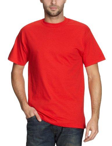 Fruit of the Loom 112120 Herren T-Shirt, Gr. 52 (L), rot (rot) (Heavy Cotton T-shirt 100%)