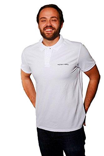 """Human Family - Fair Trade Pique Polo Vintage Shirt """"Nature Vintage"""" für Männer im used-look in den Farben weiß und anthrazit verfügbar Weiß"""