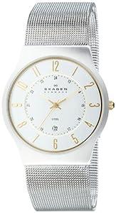 Skagen 233XLSGS - Reloj de caballero de cuarzo, correa de acero inoxidable color plata de Skagen