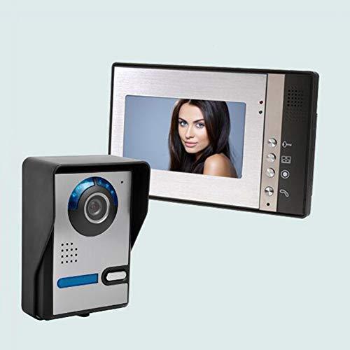 Video Türsprechanlage Mit 1 Draht Videogegensprechanlage 7 Zoll Farb Monitor Und HD Kamera Video-TüRklingel Leicht An Jeder OberfläChe Zu Befestigen/Bildauflösung: 800x480 (Modell: 802FA11),B 7-farb-video