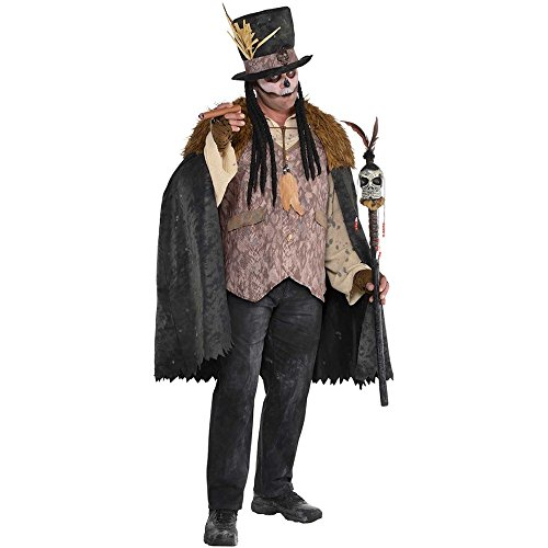 Witch Doctor Voodoo-Priester Herren Kostüm Medizinmann Regenmacher Schamane, (Voodoo Kostüm Männer)