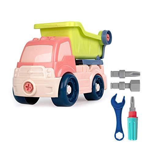 Truck Auto Spielzeug zum Auseinanderbauen Bauwagen Fahrzeuge DIY Vorspiel Set Engineering Spielzeug für Jungen Mädchen ab 3 Jahren Größe S Dump Truck