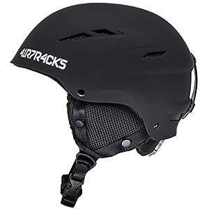 Airtracks Skihelm – Snowboardhelm Star T-200 mit Ventilationssystem und stufenloser Anpassung – Ski – Snowboard Helm – Helmet – 4 x Farben Matt – Schwarz, Weiß, Grau, Neon