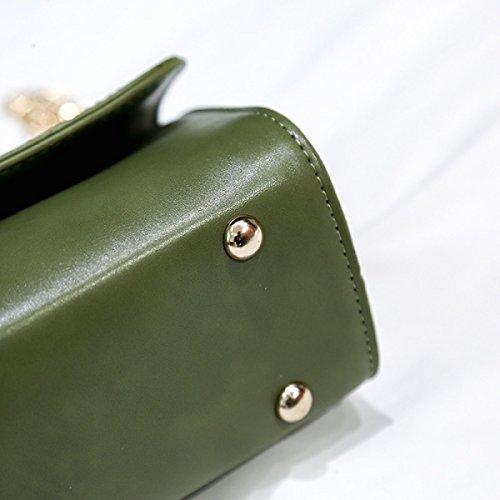 FZHLY Nuovo Spalla Moda Borsa Versione Coreana Della Catena Di Piccolo Pacchetto,Pink Green