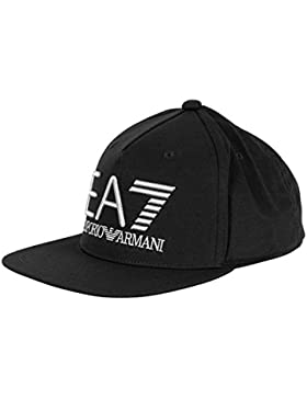Emporio Armani Hombre EA7 Logo Snapback Cap, Negro