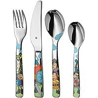 WMF Vicky el Vikingo - Cubertería para niños 4 piezas (tenedor, cuchillo de mesa