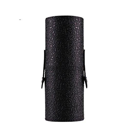 Fulltime® Pinceau de maquillage en cuir Portable Storage Case Cosmetic Maquillage Sacs Brush Porte-gobelet