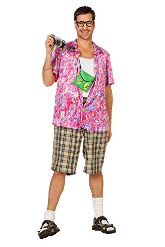 Kostüm Urlauber - Karneval-Klamotten Hawaii Kostüm Herren Hemd und Hose pink bunt Urlauber Tourist Herren-Kostüm Größe 58